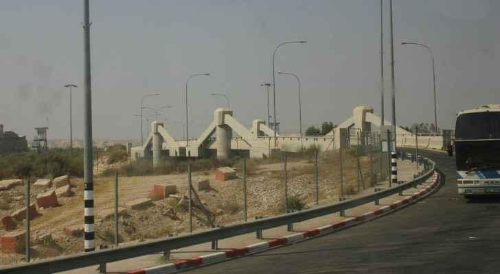 Allenby bridge from the Jordan side.
