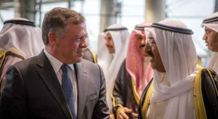 Jordan's King received a telephone call from Kuwait's Emir, where the two leaders discussed current developments in the region.
