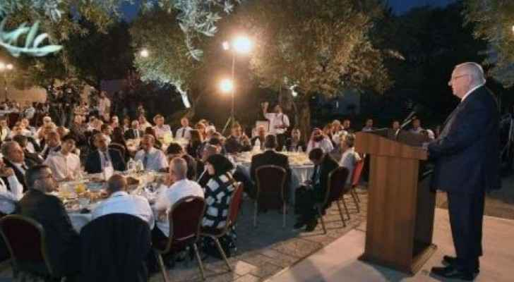 The iftar was held at the Israeli President's home in Tel Aviv.