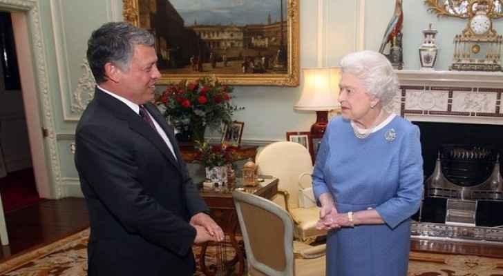 King Abdullah wished Queen Elizabeth a happy birthday.