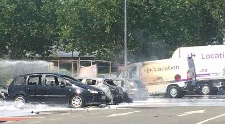 Car explodes after hitting police van on Paris's Champs-Elysees: official