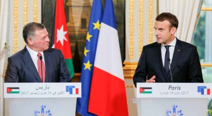 """Jordan and France are bound by a """"deep-rooted friendship and cooperation"""", Macron (Photo from Royal Court)"""