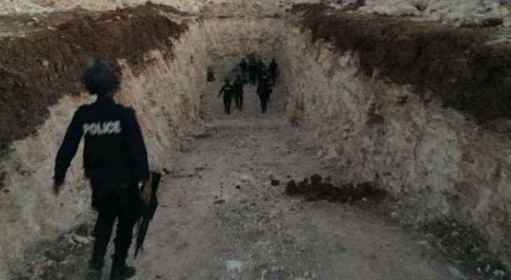 The raid uncovered a 250m-deep well which the ministry filled. (Photo from raid)