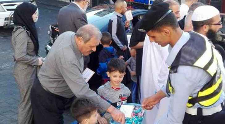 Police made dozens of Irbid's citizens happy on Sunday morning.