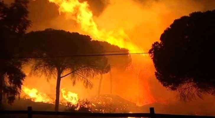 Fighting the blaze was exacerbated by the wind and heat, an emergency services spokesman told AFP.