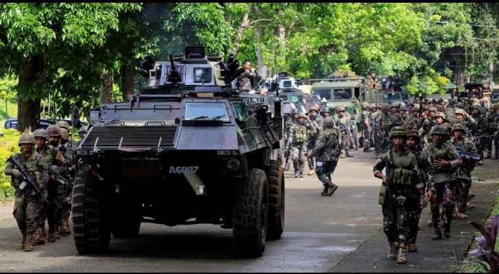 Hundreds of gunmen flying the black flag of the Islamic State (IS) group occupied parts of Marawi on May 23.