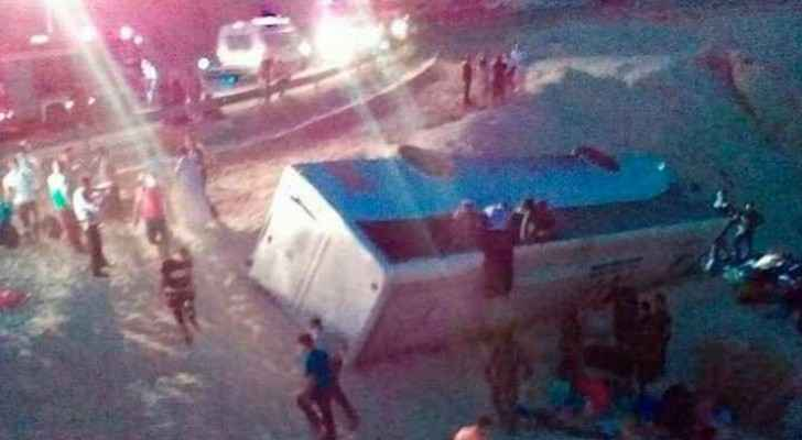 Two busses crashed in Jordan on Monday.