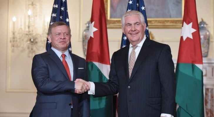 The King will discuss regional developments with Tillerson.