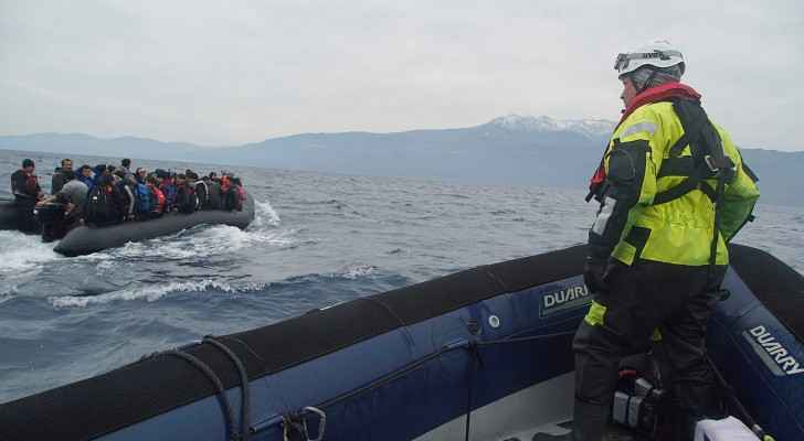 Refugees crossing the Mediterranean sea on a boat. (Wikimedia Commons)