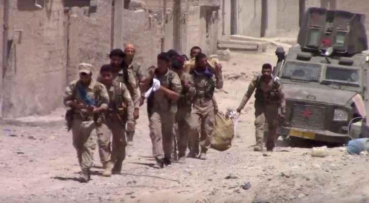 SDF forces in Raqqa. (Screengrab)