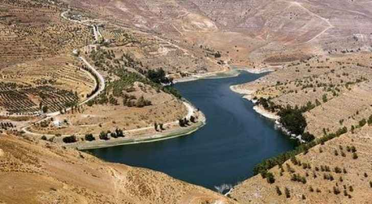 The reservoir of King Talal Dam is the largest reservoir in Jordan. (Wikipedia)