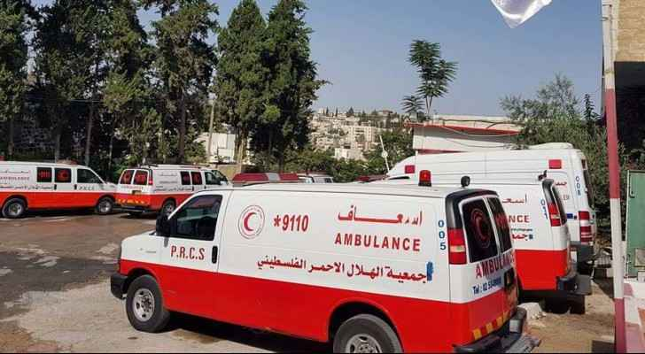 The Palestinian Red Crescent evacuated the young man to the Turkish Hospital in Tubas. (Photo courtesy of Red Crescent)