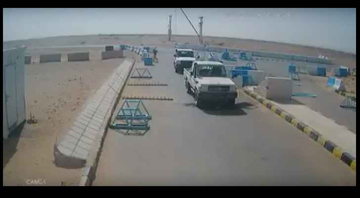 Image from the video, uploaded by Zad News Agency (Jordan)
