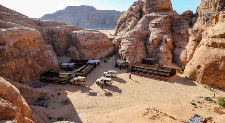 One of the tourist camps at Wadi Rum.