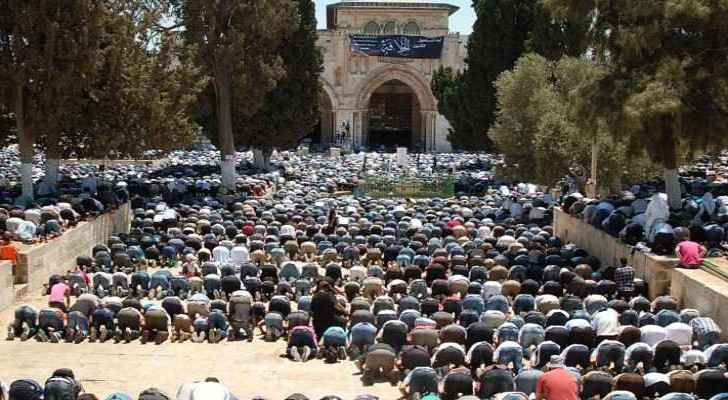 These were the first Friday prayers to be held in Al Aqsa Mosque without any conflict with Israeli forces.