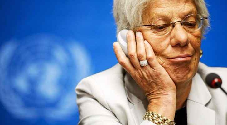 Carla Del Ponte, the former United Nations prosecutor at a press conference in Geneva in 2014. (Photo Credit: United Nations/Reuters)
