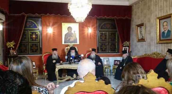 The Greek Orthodox Archdiocese of Amman said that this press conference is the first of its kind.