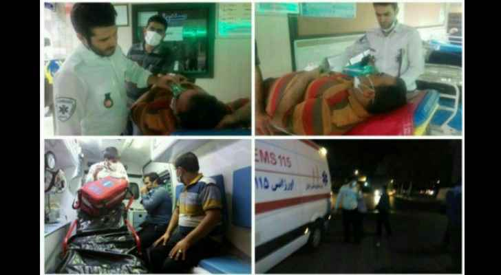 Some of the people taken to hospital in Iran.