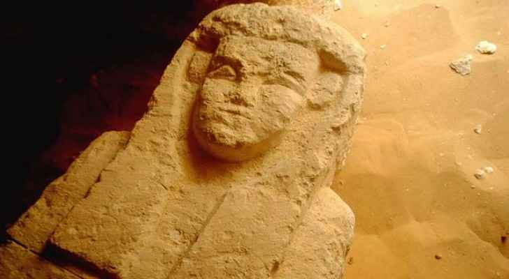 This sarcophagus was found in a Ptolemaic tomb in an area known as al-Kamin al-Sahraw. (PHOTOGRAPH BY EGYPTIAN MINISTRY OF ANTIQUITIES, AP)