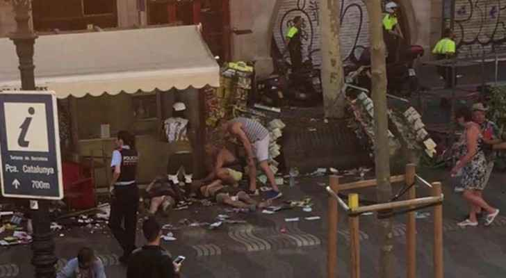 One dead, 32 injured after van drives into crowd in Barcelona in suspected 'terror attack'