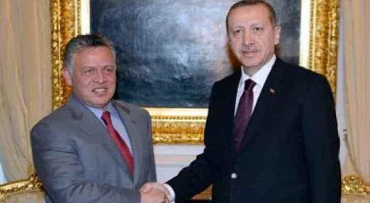King Abdullah invited Erdogan to Jordan to discuss regional issues.