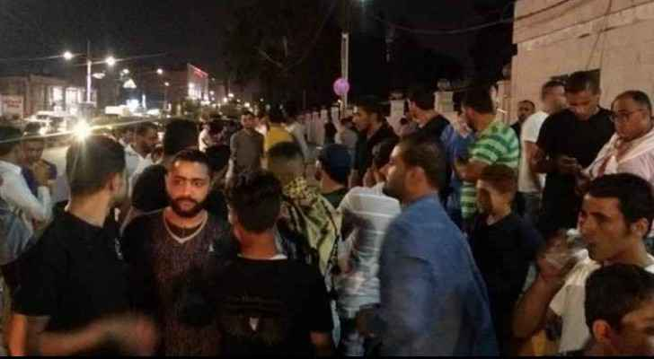 The protest held in Irbid.