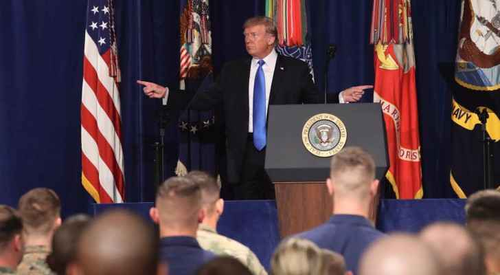 Trump makes first speech as commander-in-chief. (Photo Credit: Mark Wilson/Reuters)