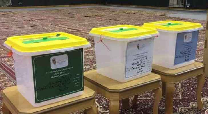 The ballot boxes in Muwaqqar were attacked last week.
