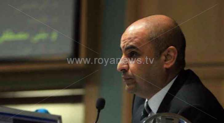 MP Tareq Khoury during a political symposium this morning