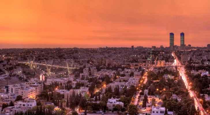 Hanna Salameh Design's Jordan Gate Park dominating the Amman skyline. (Photo Credit: HSD)