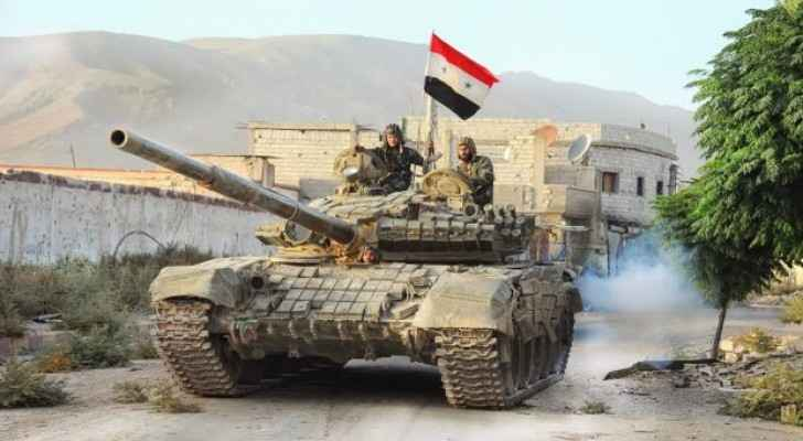 Syrian army forces.