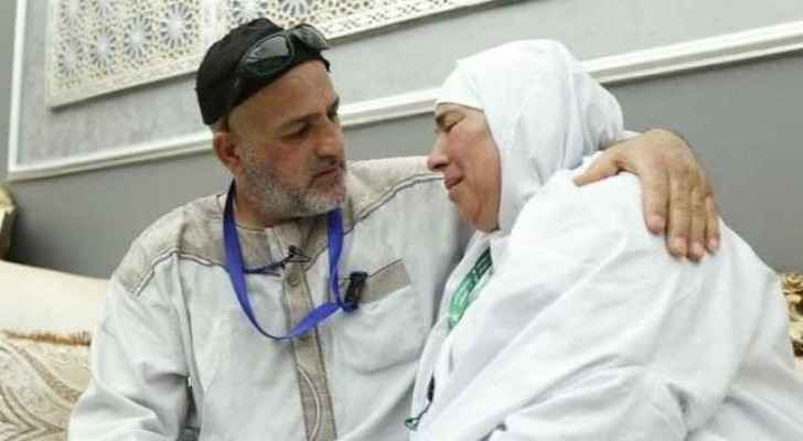 The two Palestinian siblings who were coincidentally reunited in Mecca during Hajj.
