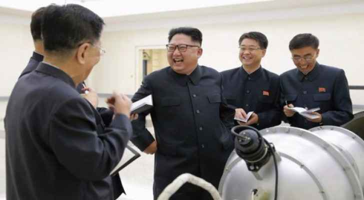 North Korean leader Kim Jung-Un inspecting the recent missile. (Photo Credit: EPA)
