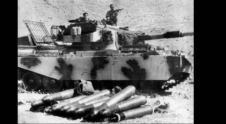 A Palestine Liberation Organization tank in battle position, 24 September 1970. AFP / East News
