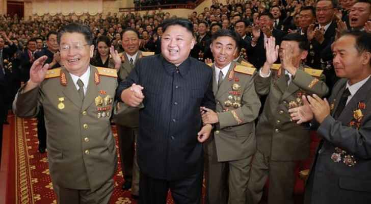 North Korean leader Kim Jong-un during the celebrations.