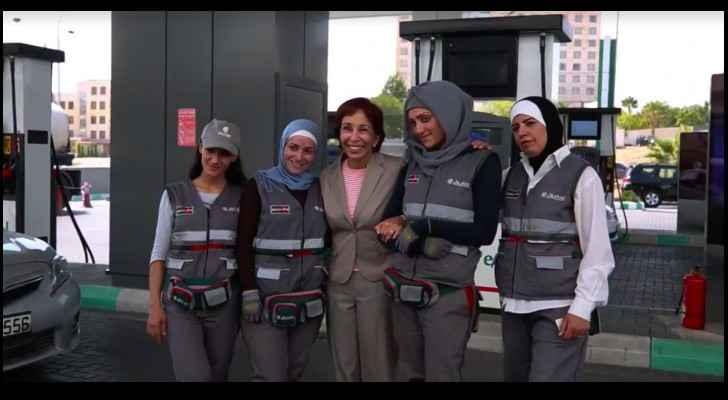 Princess Basma loved seeing the ladies in action.