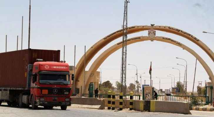 Karameh border crossing was recently reopened to bolster economic ties between the two countries. (Photo Credit: Jordan Times)