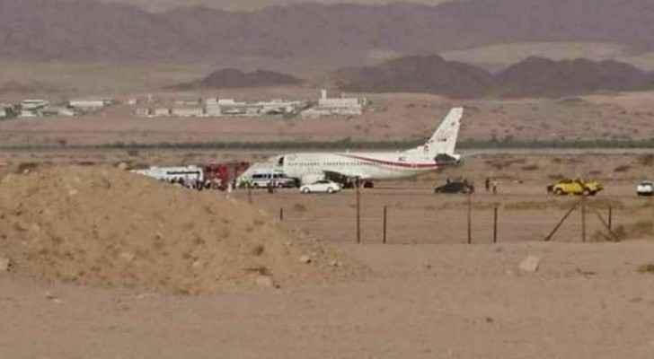 The plane was headed from Aqaba to Dubai.