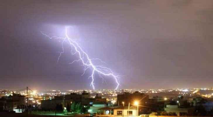 A lightning bold in Jordan.
