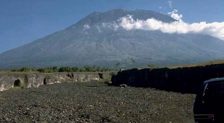 Mount Agung in 1989, 26 years after it erupted and killed more than a 1000 people.