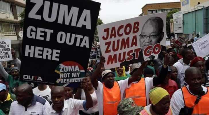 South Africans protest against corruption