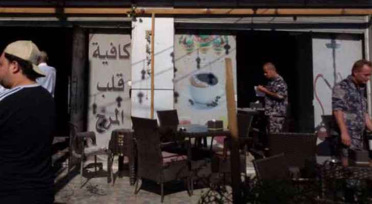 Fire breaks out in Amman cafe