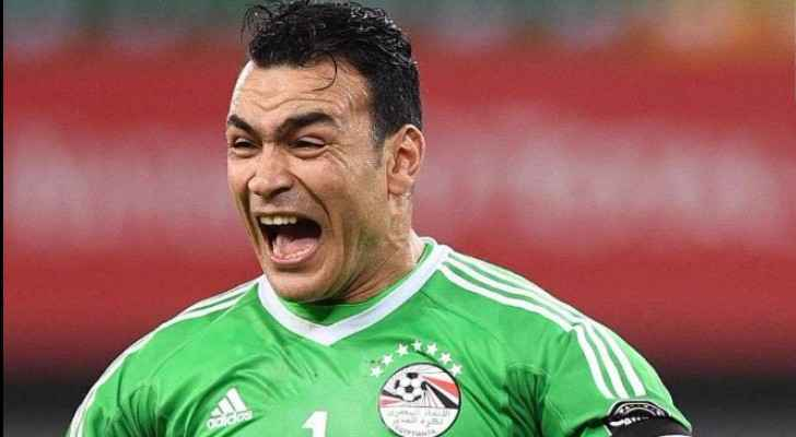 44 year-old Essam El-Hadary is celebrating win on Congo. (Twitter)