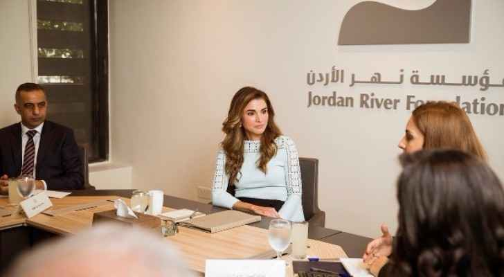 Her Majesty Chairs Annual JRF Board Meeting. (Press Department of Queen Rania's Office)