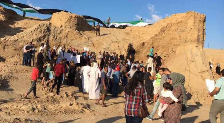 Demonstration in Gaza against bulldozing archaeological site