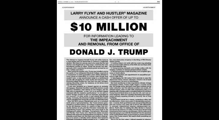 The ads published on Washington Post's Sunday Edition. (Washington Post Website)
