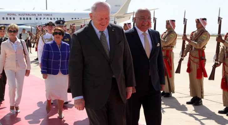 Peter Cosgrove, Governor-General of Australia shortly after his arrival in Jordan.
