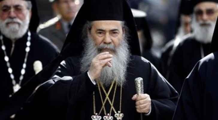 Patriarch Theophilos III of Jerusalem.
