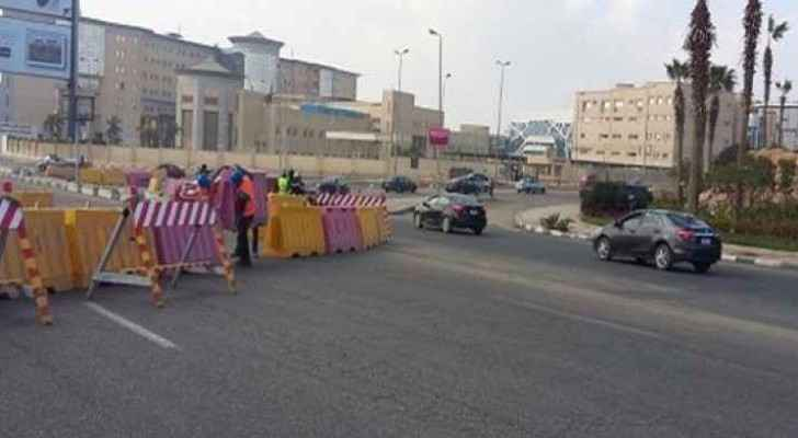 Several streets will be partially closed in Amman during the weekend