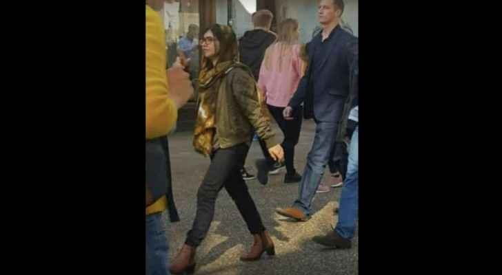 Malala allegedly walking around Oxford University in skinny jeans and heels. (Facebook)